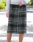 Roseland Classic boucle Check Straight Skirt