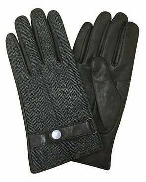 Wool Mix Leather Glove