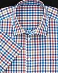 Pure Cotton Short Sleeve Multi Coloured Check Shirt