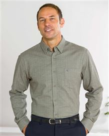 Brushed Cotton Sage Green Shirt
