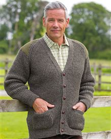 Green Fishermans Rib Cardigan