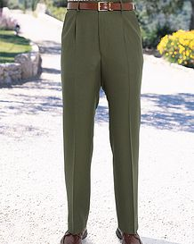 Green Formal Cavalry Twill Trousers