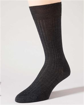 Pure Wool Grey Ankle Socks