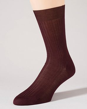 Pantherella Pure Cotton Ankle Socks - Berry