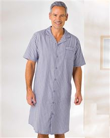 Cotton Striped Nightshirt