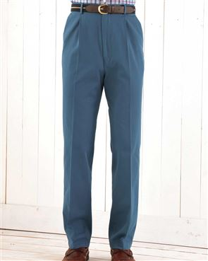 Cotton Washed Blue Trousers