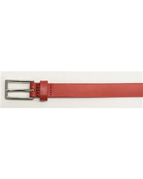 Narrow Leather Belts - Navy