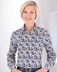 Denise Multi Coloured Pure Cotton Blouse