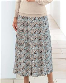 Elspeth Multi Coloured Supersoft viscose Skirt