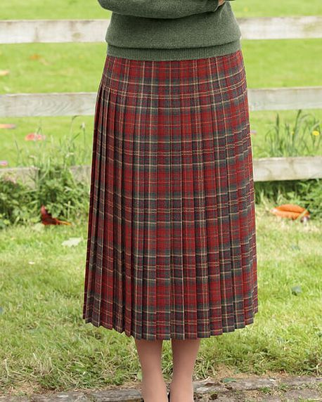 Douglas Multi Coloured Pure Wool Skirt