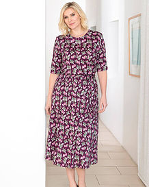 Geraldine Multi Coloured Pure Austrian silky cotton jersey Dress