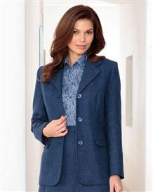 Tuscany Midnight Blue Pure Wool Tweed Jacket