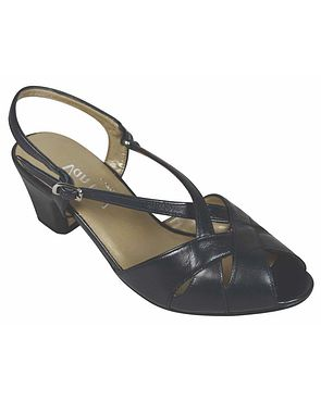 Libby II Leather Sandal - Navy