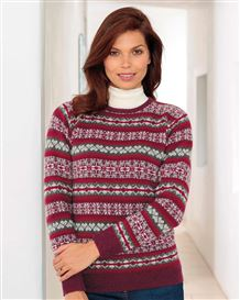 Zoe Pure Lambswool Fairisle Sweater