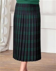 Brampton Pure Wool Blackwatch Check Pleated Skirt