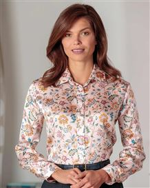 Valentina Floral Liberty Print Pure Silk Blouse
