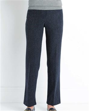 Bamburgh Wool Blend Striped Trousers