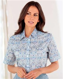 Madeline Patterned Liberty Print Tana Lawn Blouse