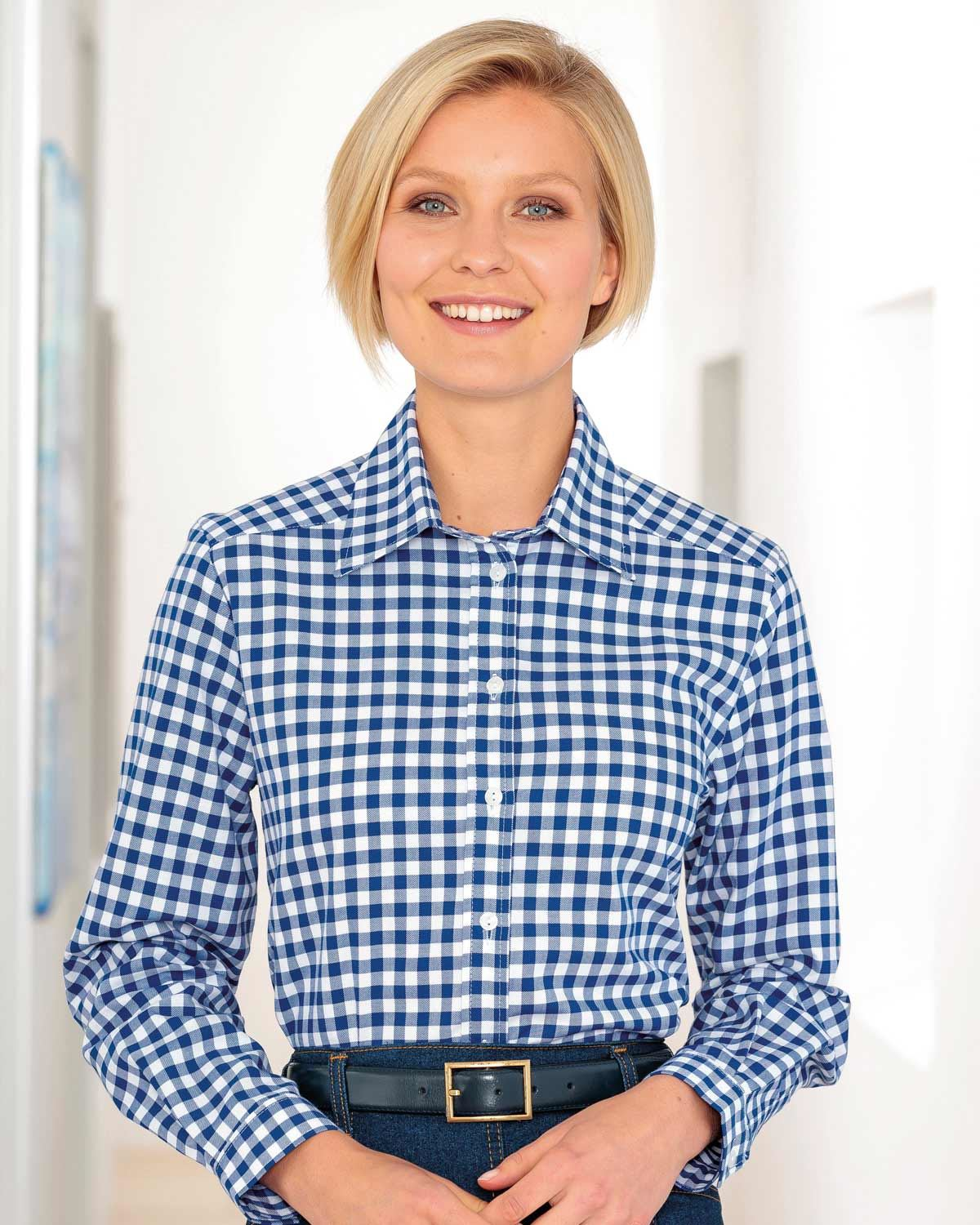 Belinda Checked Pure Cotton Blouse