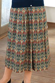 Art Deco Wool Mix Skirt