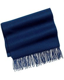 Navy Pure Lambswool Scarve