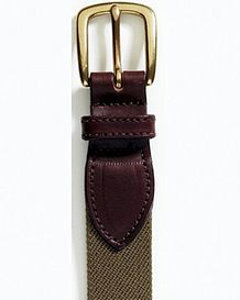 Olive Elasticated Webbing Belt