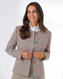 Lisbon Pure Cotton Checked Jacket