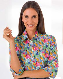 Dollie Patterned Liberty Print Tana Lawn Blouse