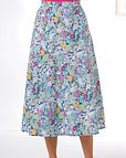 Penelope Floral Pure Cotton Skirt