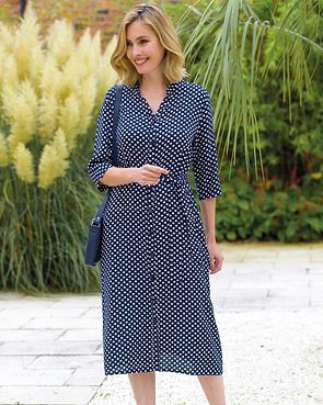 Ingrid Patterned Viscose Dress