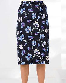 Callie Cotton Mix Straight Skirt