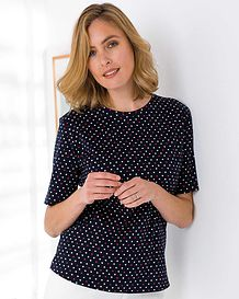 Nicola Patterned Pure Cotton Leisure Top