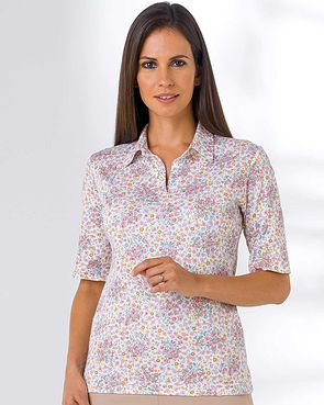 Kara Multi Coloured Pure Cotton Polo
