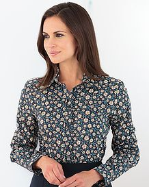 Anna Multi Coloured Pure Cotton Liberty  Blouse