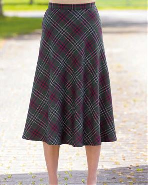 Marden Wool Mix Checked Skirt