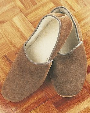 Mens Slippers Sheepskin