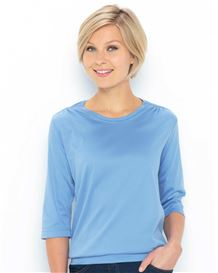 Plain Pure Cotton Blouson Top