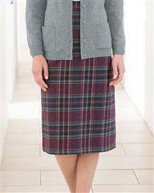 Jura Multi Coloured Wool Blend Straight Skirt
