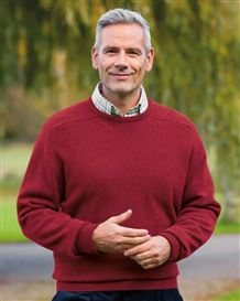 Lambswool Crew Neck Sweater - Mens
