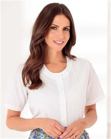 Abby White Cotton Rich Blouse
