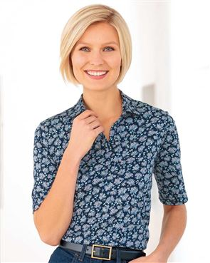 Mollie Multi Coloured Pure Cotton Polo