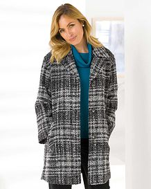 Roseland Classic boucle Check Coat
