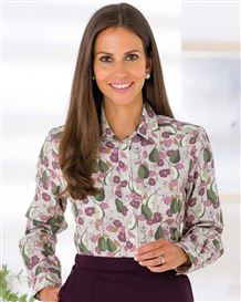 Vivian Polycotton Patterned Blouse