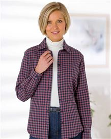 Iris Brushed Checked Pure Cotton Blouse