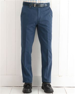 Pure Cotton Blue Trousers