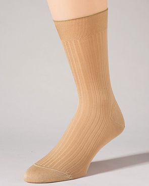 Pantherella Pure Cotton Ankle Socks - Beige