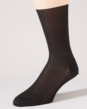 Pantherella Pure Cotton Ankle Socks - Black