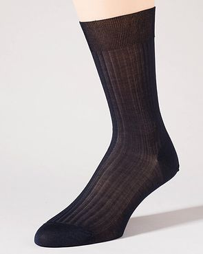 Pantherella Pure Cotton Ankle Socks - Navy