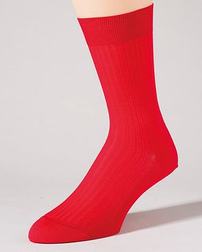 Pantherella Pure Cotton Ankle Socks - Red