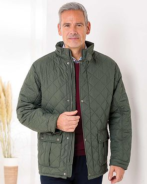 Men's Padstow Quilted Jacket - Green